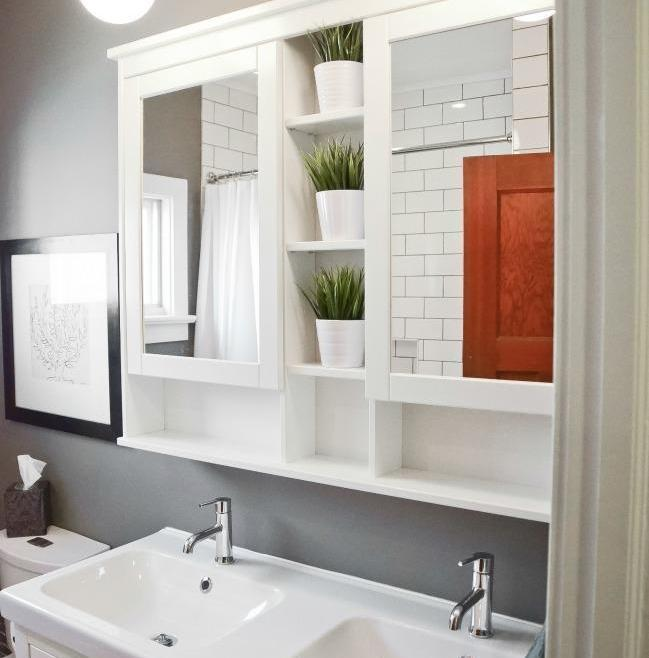 Simple and Clean Bathroom Renovation Ottawa – Double Sink